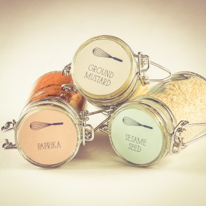whisk kitchen spice jar labels