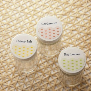 kitchen spice jar labels summer wave design